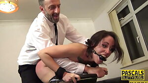 Tied up subjugated whipped and fucked