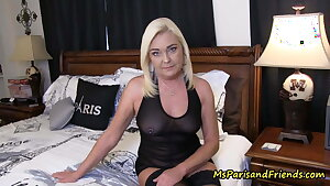 Visiting home I get to fuck my horny mom