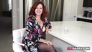 Busty Wifey Andi James Gives JOI to Husband's Buddy