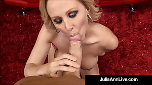 Big Titty Milf Julia Ann Tongue Fucks Hot Babe Kayla Paige!