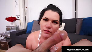 Cuban Cleaning Lady Angelina Castro Sucks The Boss' Cock!