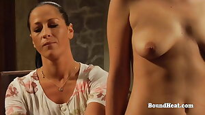 Lesbian Slave In Prison Sniffs Madame's Panties And Ejaculations