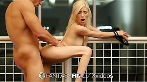 FantasyHD Fuck and cascading internal cumshot with tied up blonde Piper Perri
