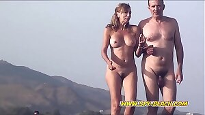 Bare Amateurs Beach Couples Ambling On The Beach Compilation