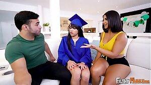 FILTHY FAMILY - Julz The Cherry Screws Her Step Parents, Rose Monroe & Derrick Ferrari!