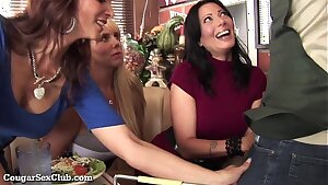 Trio Stacked MILFs Desperate For Dick!