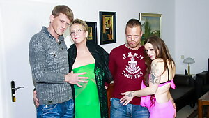 AmateurEuro - Amazing 4some Party With Erna & Adrienne Smooch
