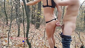 My step brother fucked me in the woods