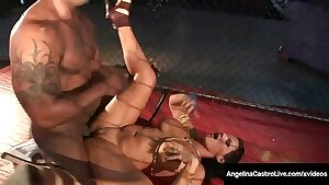 Meaty Ass Latina Angelina Castro Dominates BBC In Caged Fight