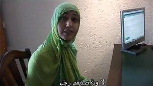 Moroccan slut Jamila tried sapphic sex with dutch girl(Arabic subtitle)