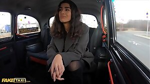 Fake Cab Asian honey gets her tights ripped and pussy fucked by Italian cabbie