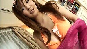 Astonishing Asian busty bitch titty fucks the dude