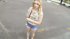 Hot Big Ass Blonde Teen Paid Cash To Fuck Stranger Point of view