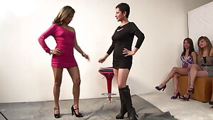 Hard Lesbian Group Sex with lots of sex playthings and orgasms