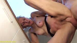 83 years old mom fierce fucked by stepson