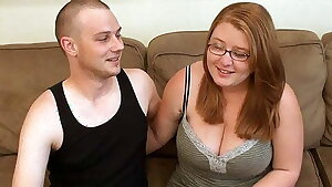 Hot BBW Girlfriend With Glasses, First Time Porn