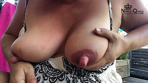 HUGE NIPPLES Autofellatio