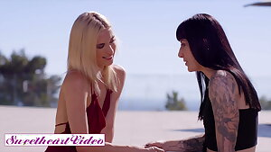 Aiden Ashley and Goth Charlotte Play Together With A Strapon