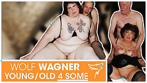 Swinger orgy! MILFs get boinked & swallow cum! WolfWagner.com